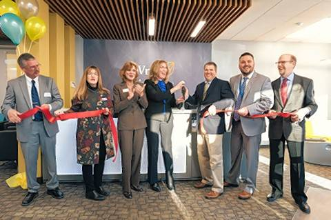 Local officials gather for a ribbon cutting of the DeVry University Gurnee Center. From left,  Elmer Fallos, executive director, Gurnee Chamber of Commerce; State Sen. Melinda Bush; Mayor Kristina Kovarik; Amy King, DeVry Group president, Central Region; Lewis Zanon, center dean; Corey Ochall, dean of campuses-Chicagoland; and Stewart Kerr, executive director, Lake County Chamber of Commerce.