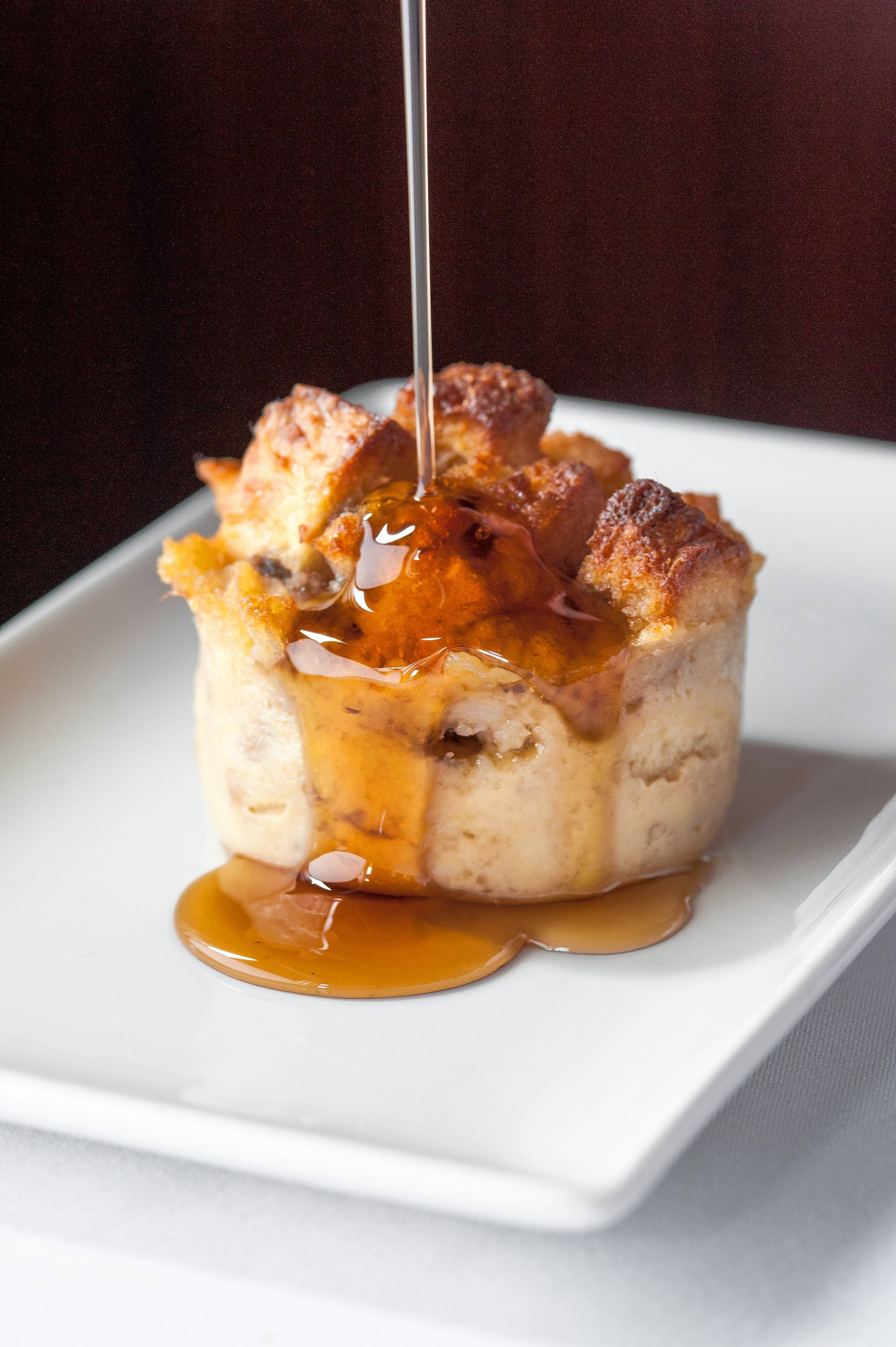 End your Easter meal at Sullivan's Steakhouse with bananas Foster bread pudding.