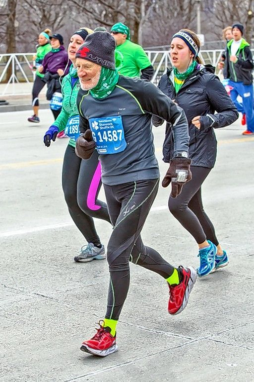 One of the oldest runners in Sunday's Bank of America Shamrock Shuffle 8K, 86-year-old Iggy Cascio of Schaumburg not only won his age division, but he also shaved four minutes off his winning time from last year.