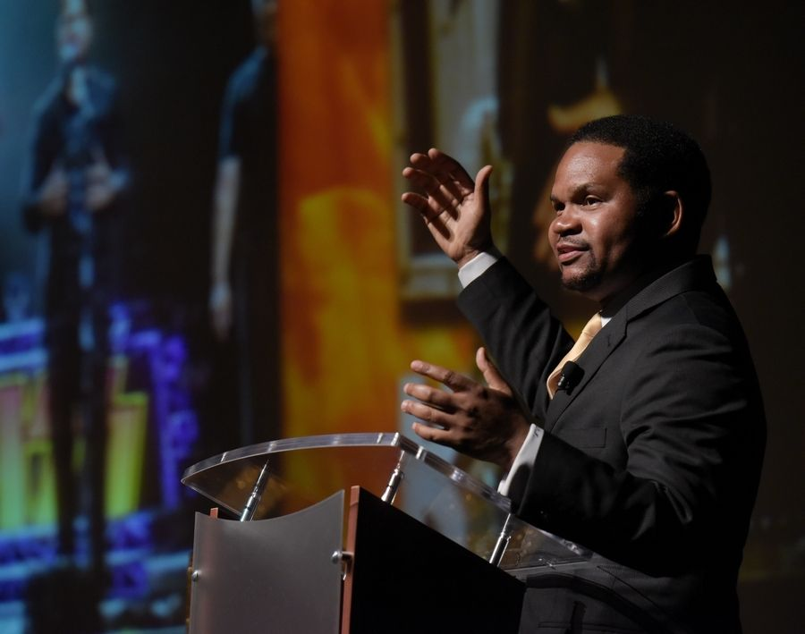Aurora Mayor Richard Irvin delivered his first State of the City address since his election a year ago.