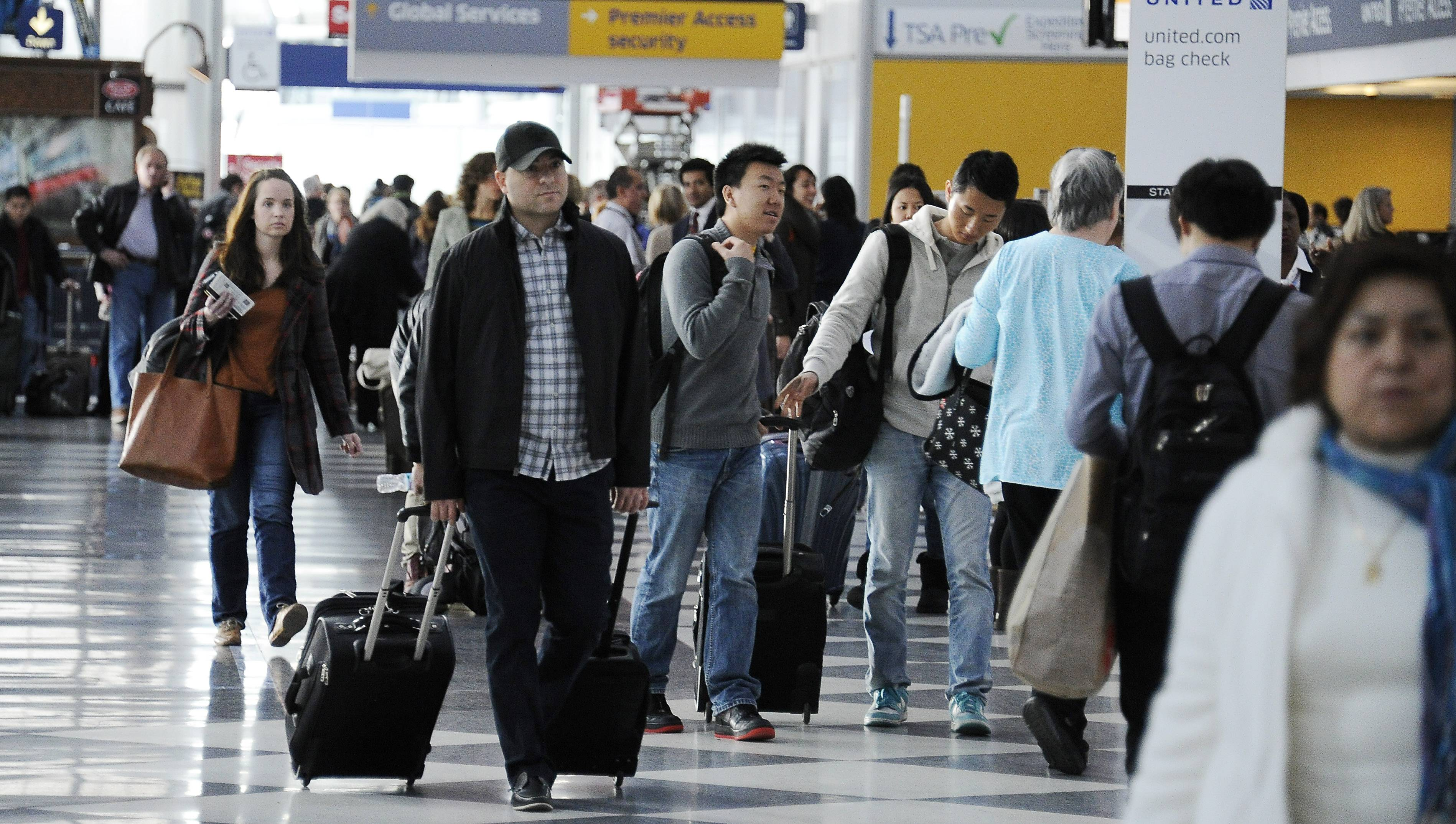 O'Hare International Airport was 14th out of 30 major U.S. airports for on-time arrivals.