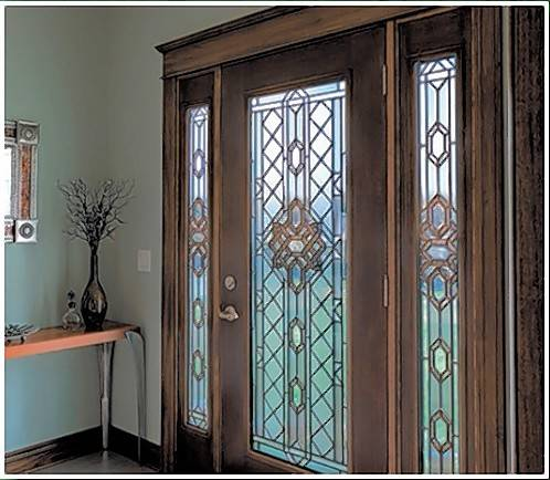 Sahara Window and Doors sells exterior front doors with more than 200 custom glass options.