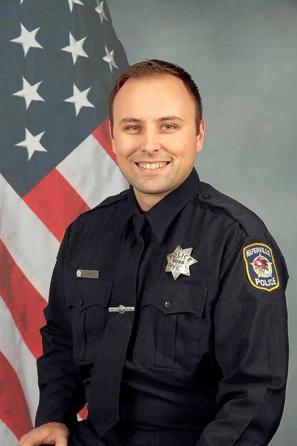 Officer Jason Duffy has been recognized with the Naperville Police Department's Lifesaving Award three times for reviving people from opioid overdoses using the nasal-spray antidote Narcan.