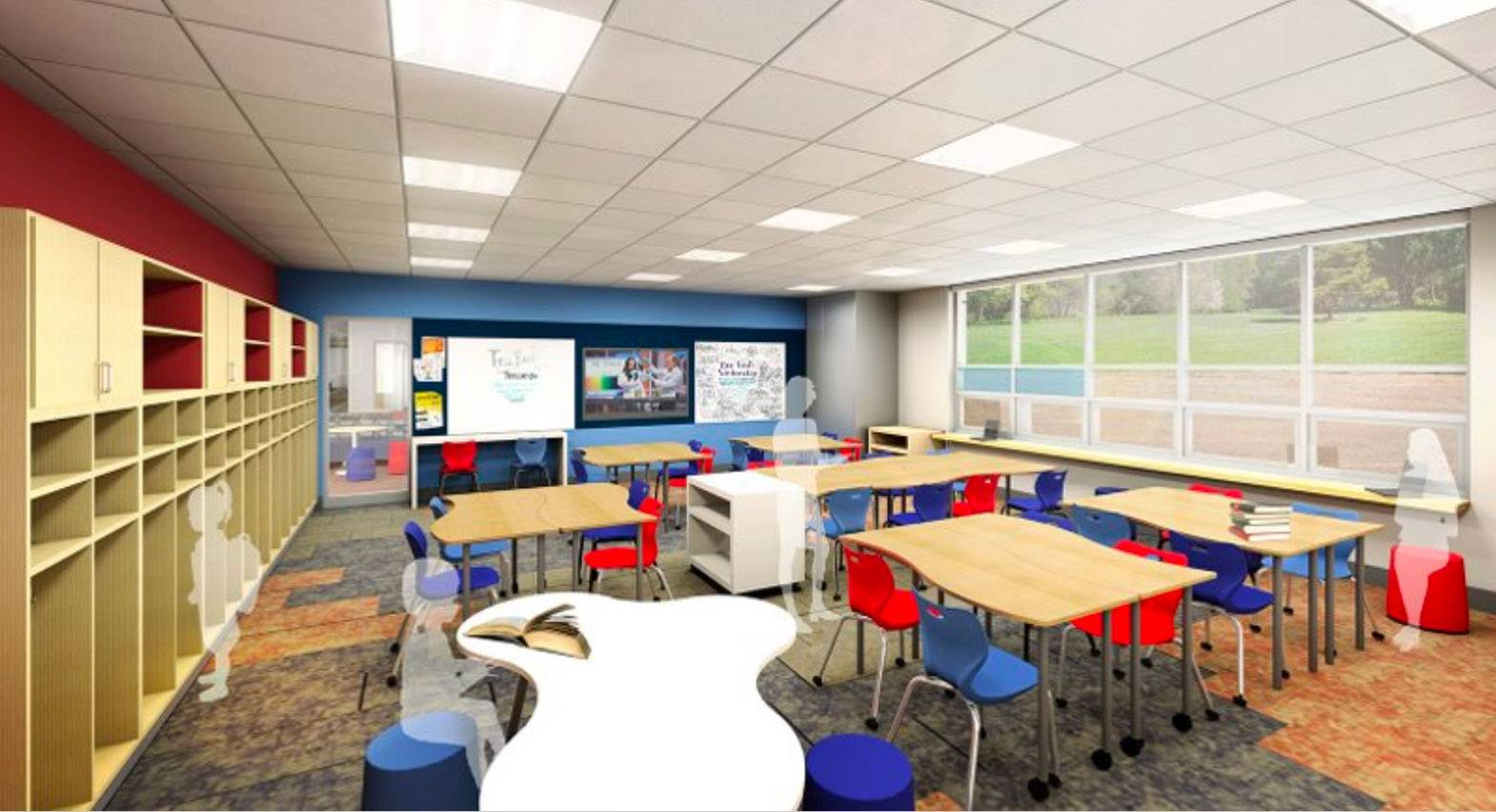 A rendering shows a planned classroom at Oakland Elementary School in Antioch District 34. The addition is part of $26 million in upgrades at a pair of elementary schools.