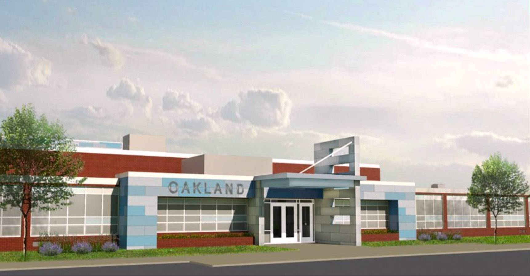 This rendering shows how Oakland Elementary in Lake Villa will look after upgrades.