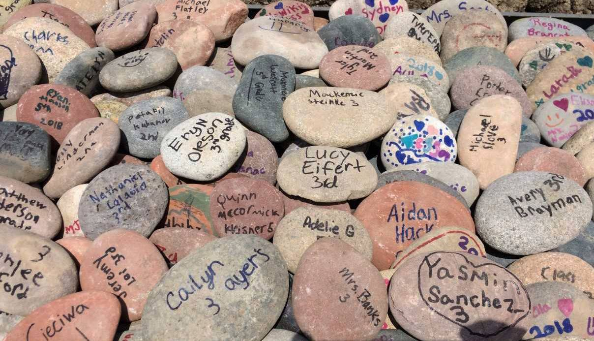 """Rocks to Remember"" signed by students will be part of upgrades at Oakland Elementary School in Lake Villa."