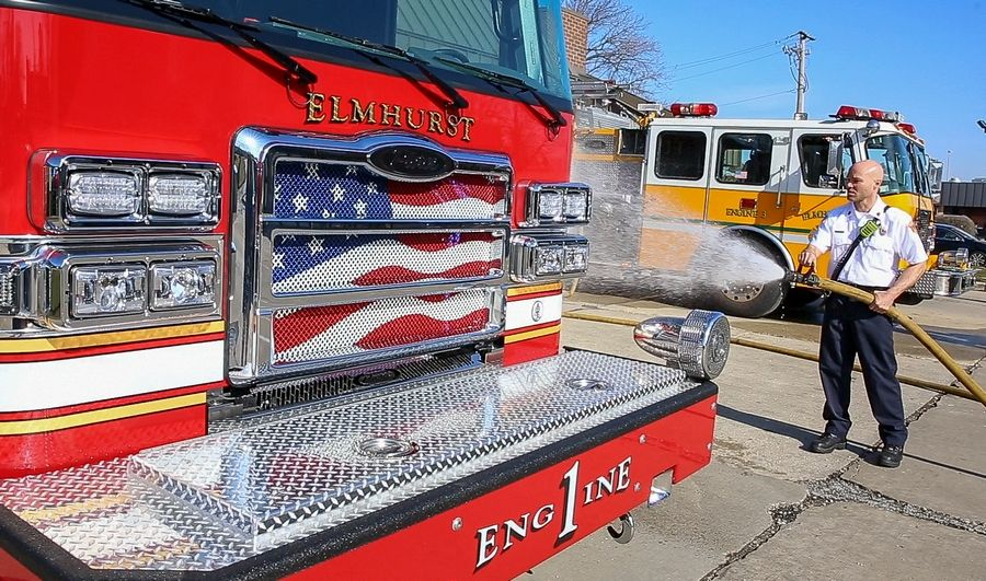 Elmhurst welcomes fire engine with 'rite of passage'