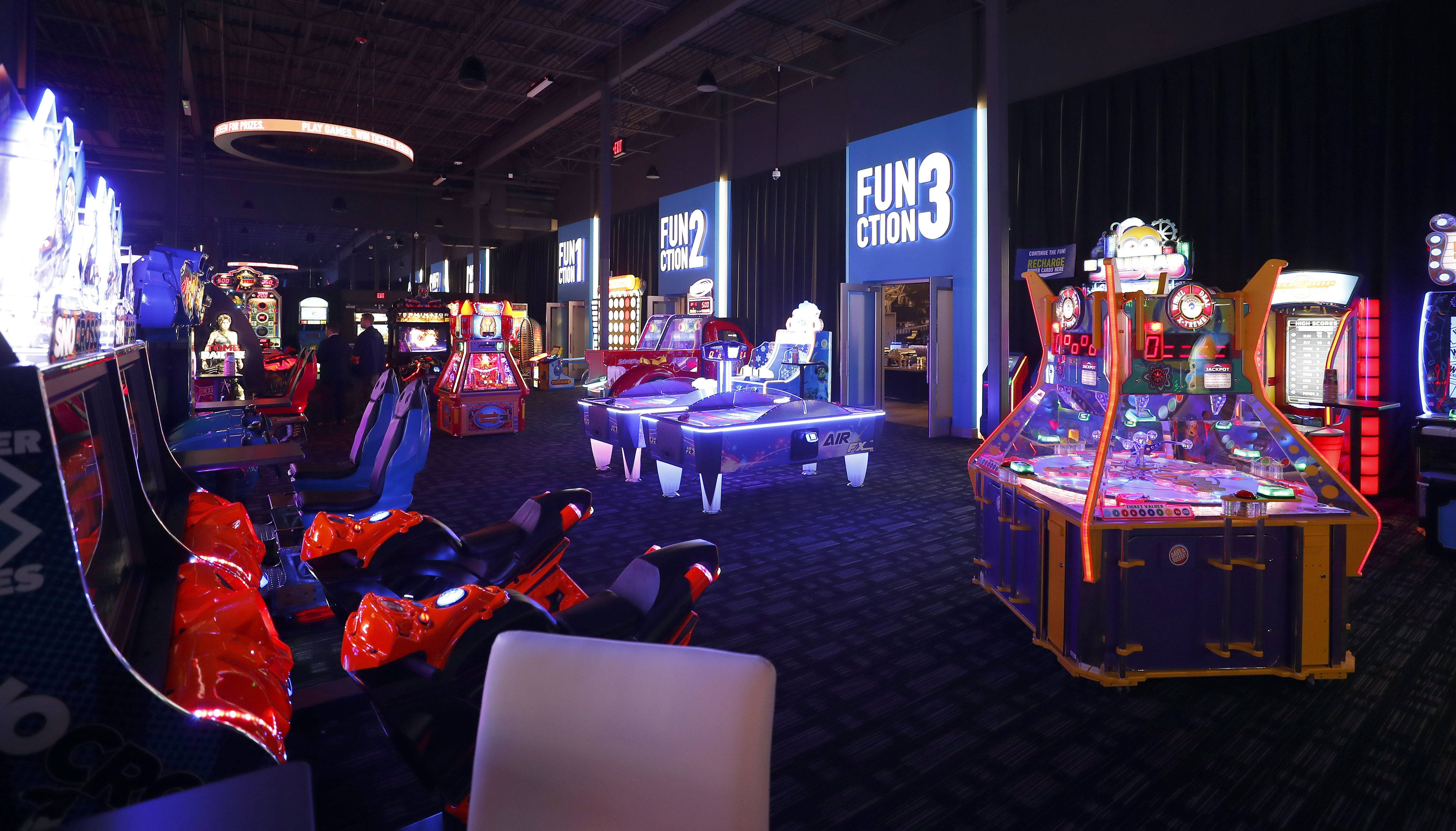The game room at the new Dave & Buster's location in Rosemont features 155 of arcade games. The restaurant opens Monday.