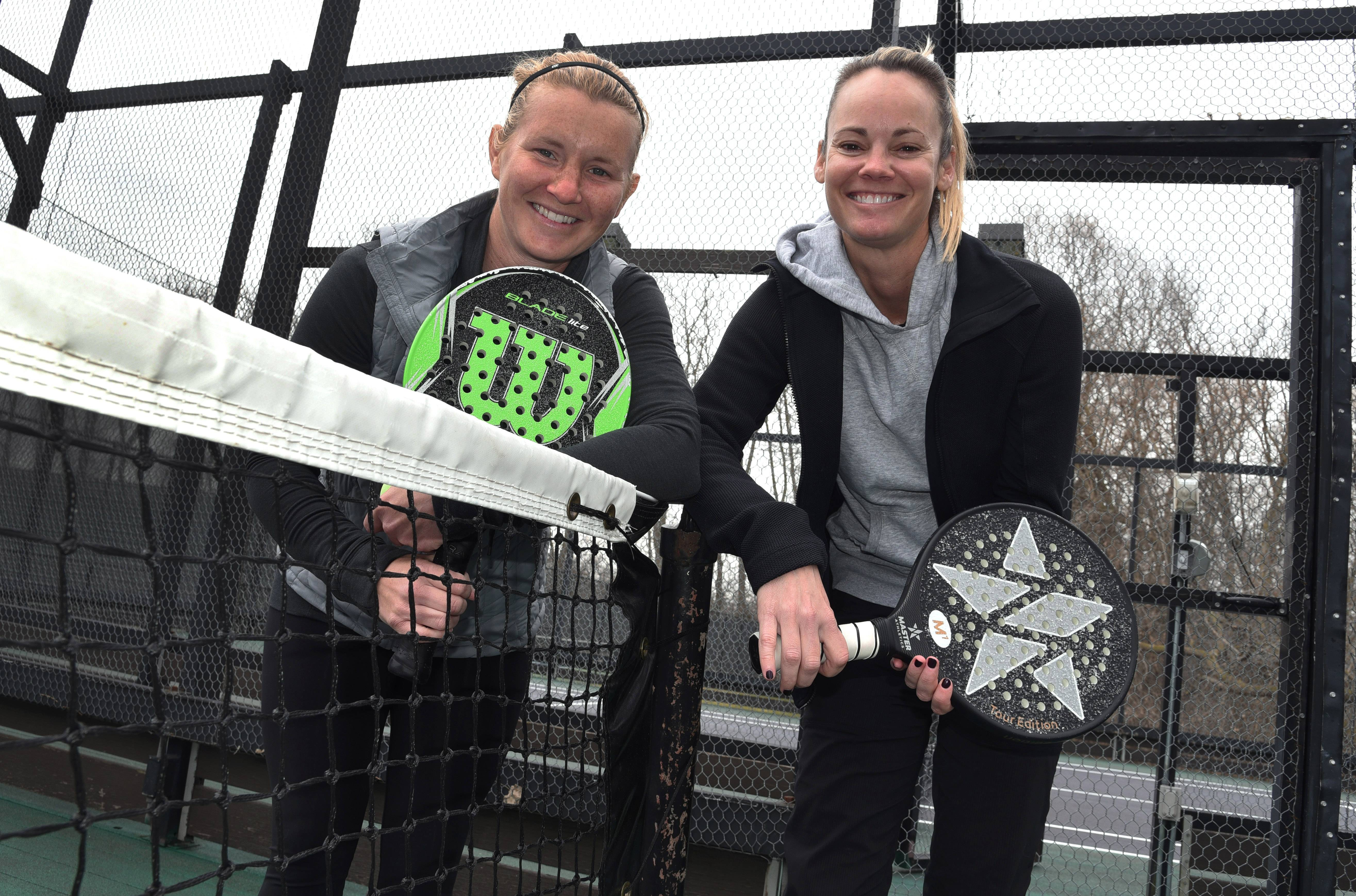 The suburban platform tennis team of Alison Morgan, left, and Laura Berendt won the Hinsdale Challenge, the 2018 National Ranking and Viking President's Cup Qualifier.