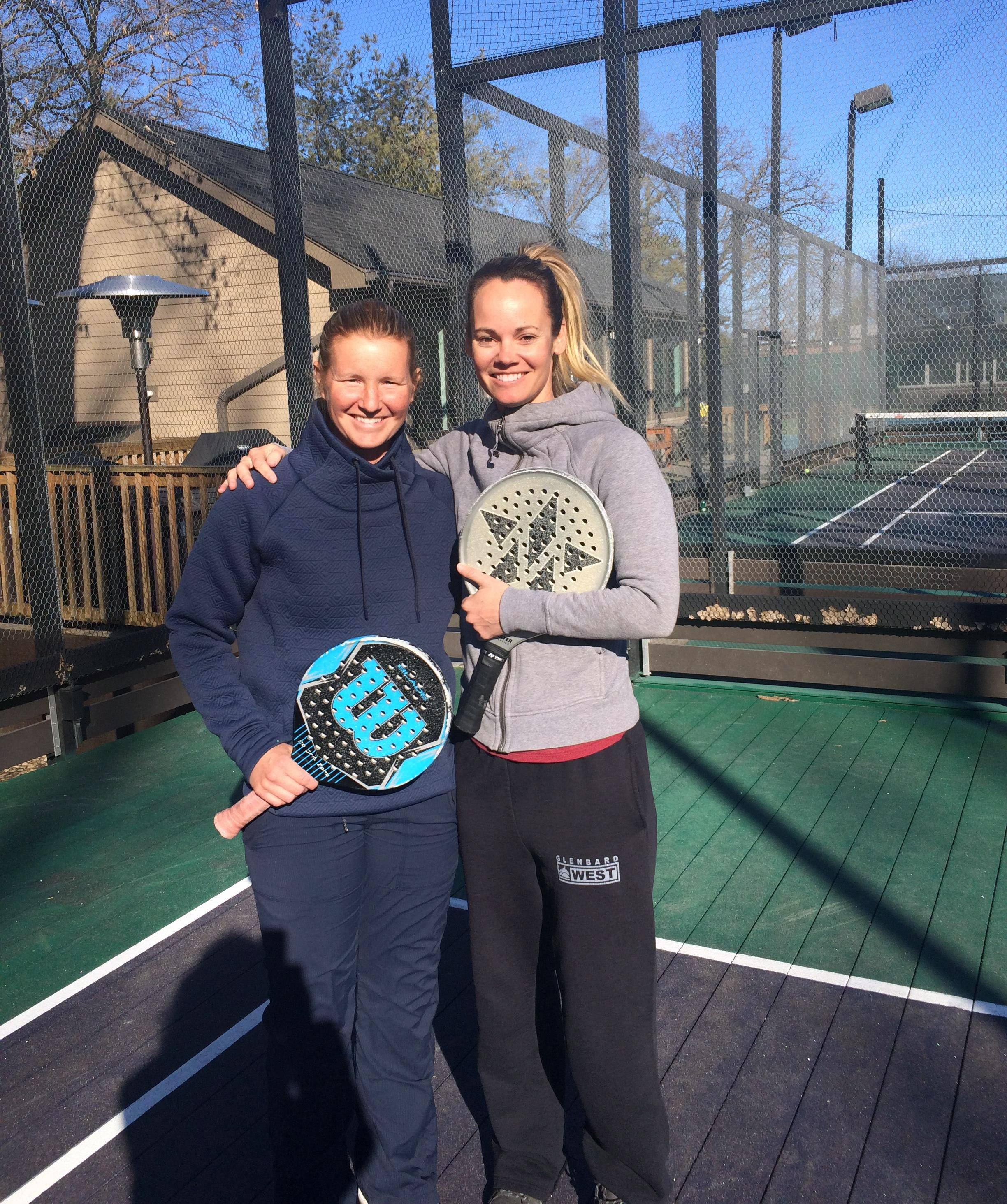 The suburban platform tennis team of Alison Morgan and Laura Berendt won the Hinsdale Challenge, the 2018 National Ranking and Viking President's Cup Qualifier.