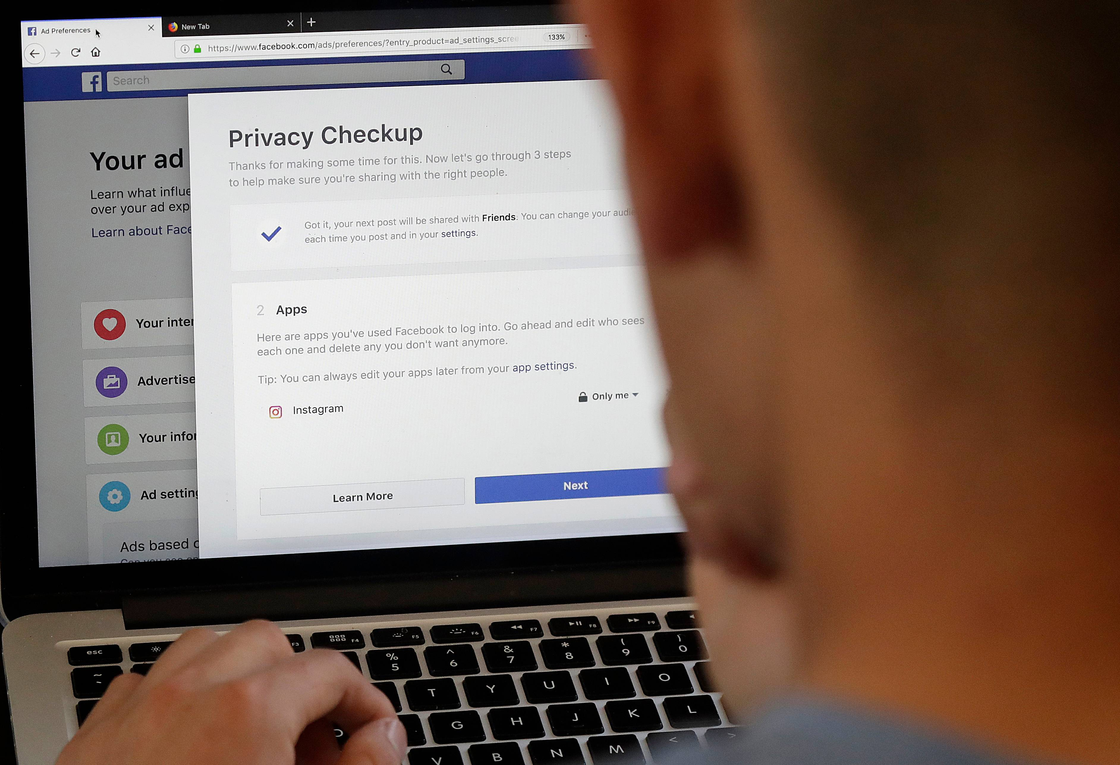 If you're on Facebook and haven't already done the privacy check, make the time. Now. Then repeat for Google and Oath