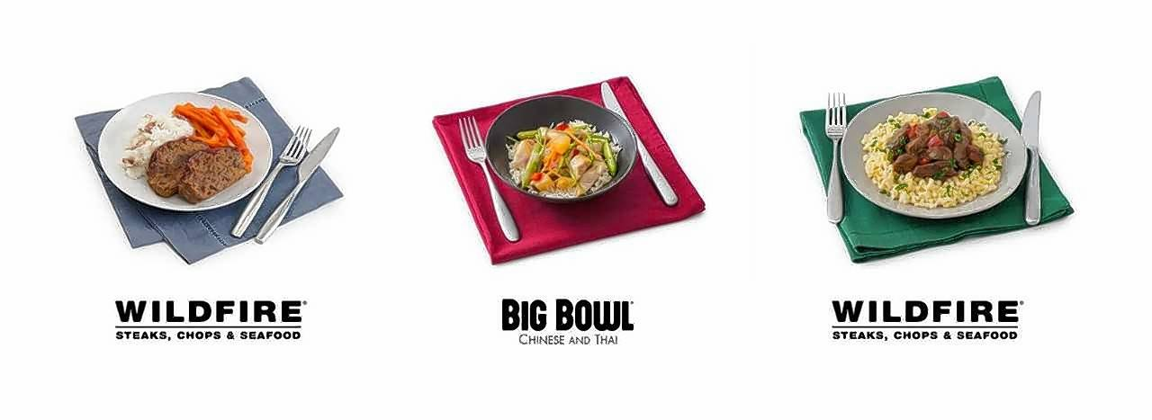 Wildfire and Big Bowl restaurants are partnering with Peapod to provide meal kits.