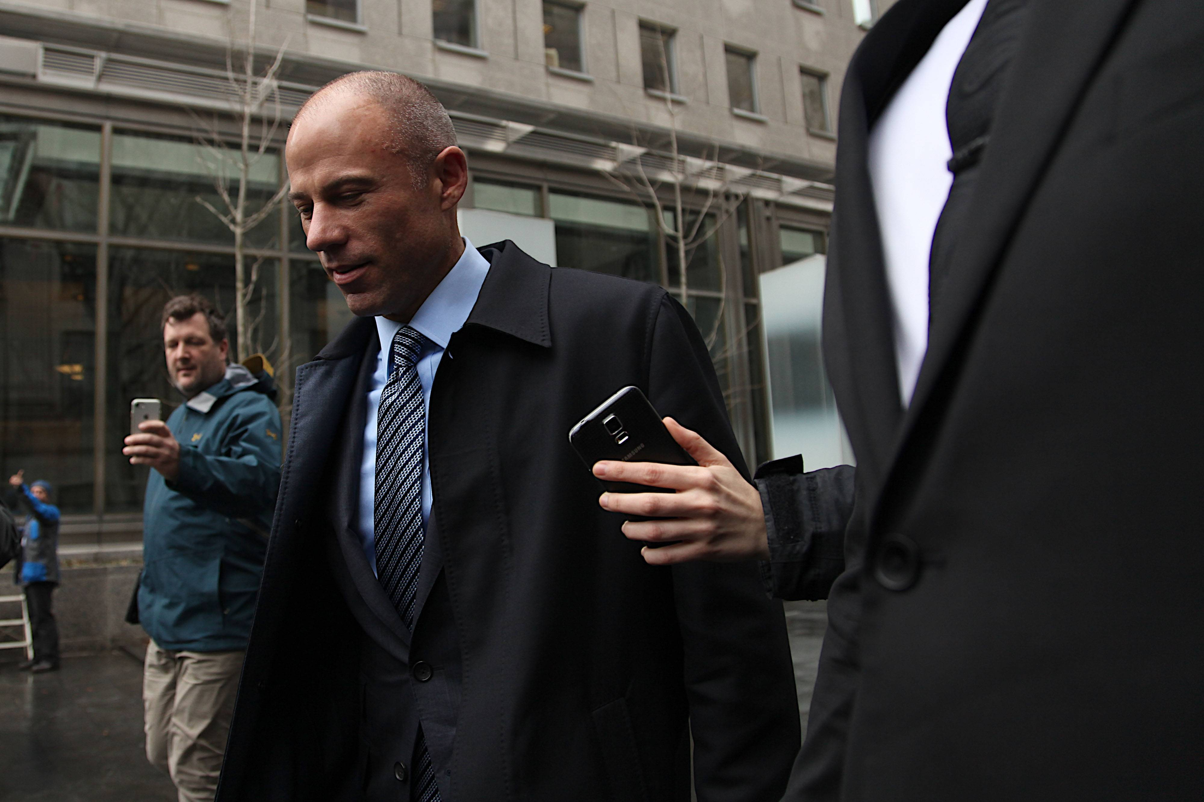 Michael Avenatti, lawyer of Stormy Daniels, arrives at Federal Court in New York on Monday.