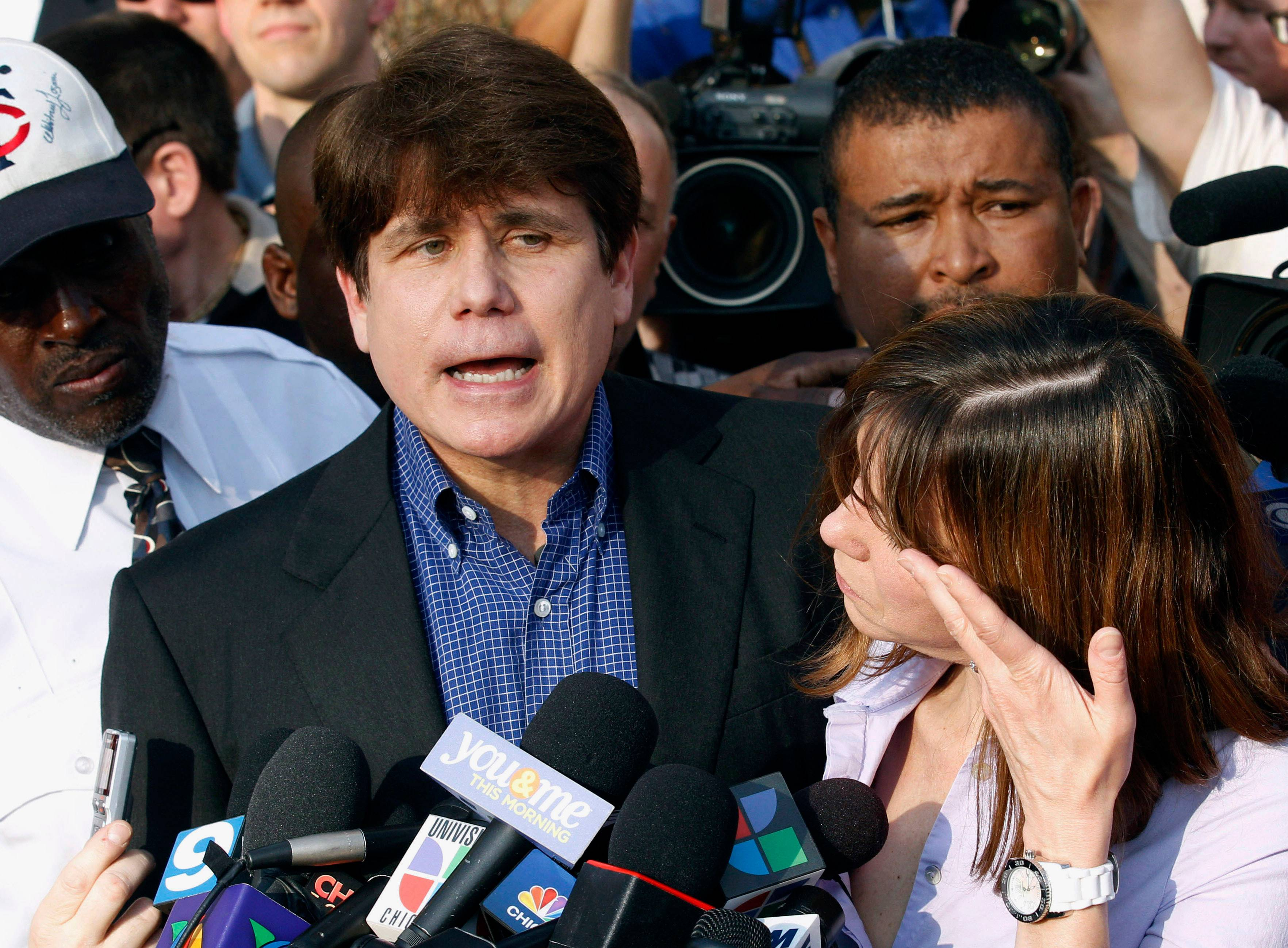 Former Illinois Gov. Rod Blagojevich, shown here in 2012 with his wife, Patti, had a second appeal rejected by the Supreme Court.