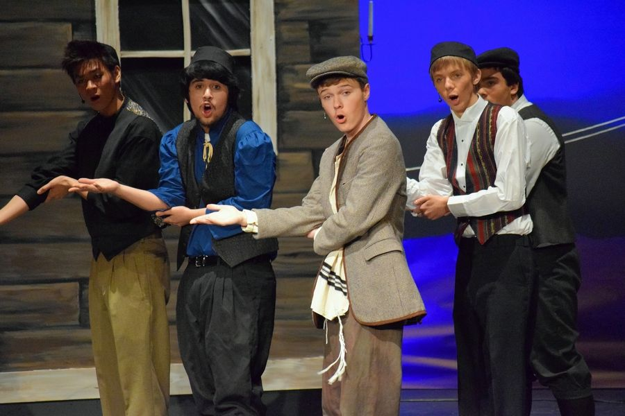 "Huntley High School fine arts students perform ""Fiddler on the Roof"" last spring. Next school year, the school will launch global studies and fine arts academies."