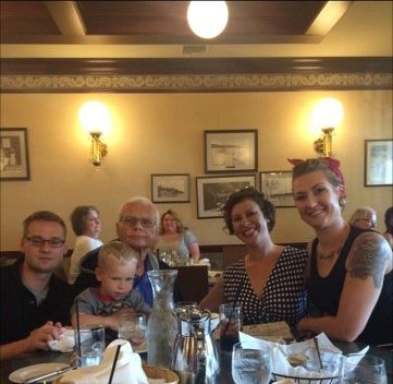 Joe Such spent his last Father's Day in 2017 in Wisconsin with, from left, son Danny, grandson Anton, daughter-in-law Kirsten and daughter Laura Ashley.