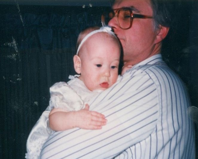 Joe Such with his then-baby daughter Laura Ashley in 1991.