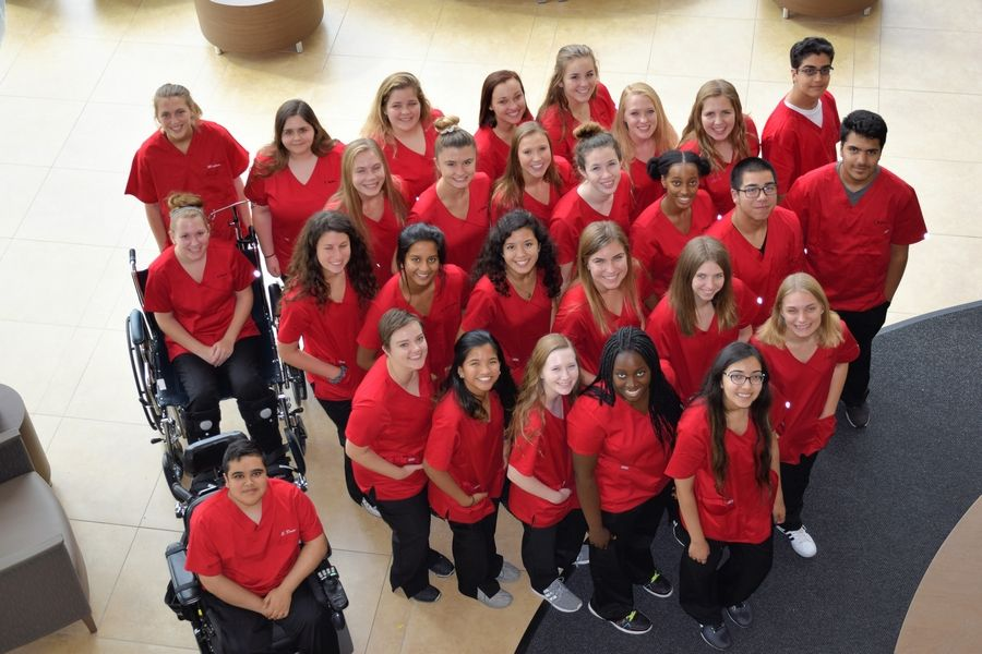 Huntley High School students in the medical residency program partner with Centegra Hospital in Huntley. The school will debut new global studies and fine arts academies next school year. The school currently has medical and engineering academies.