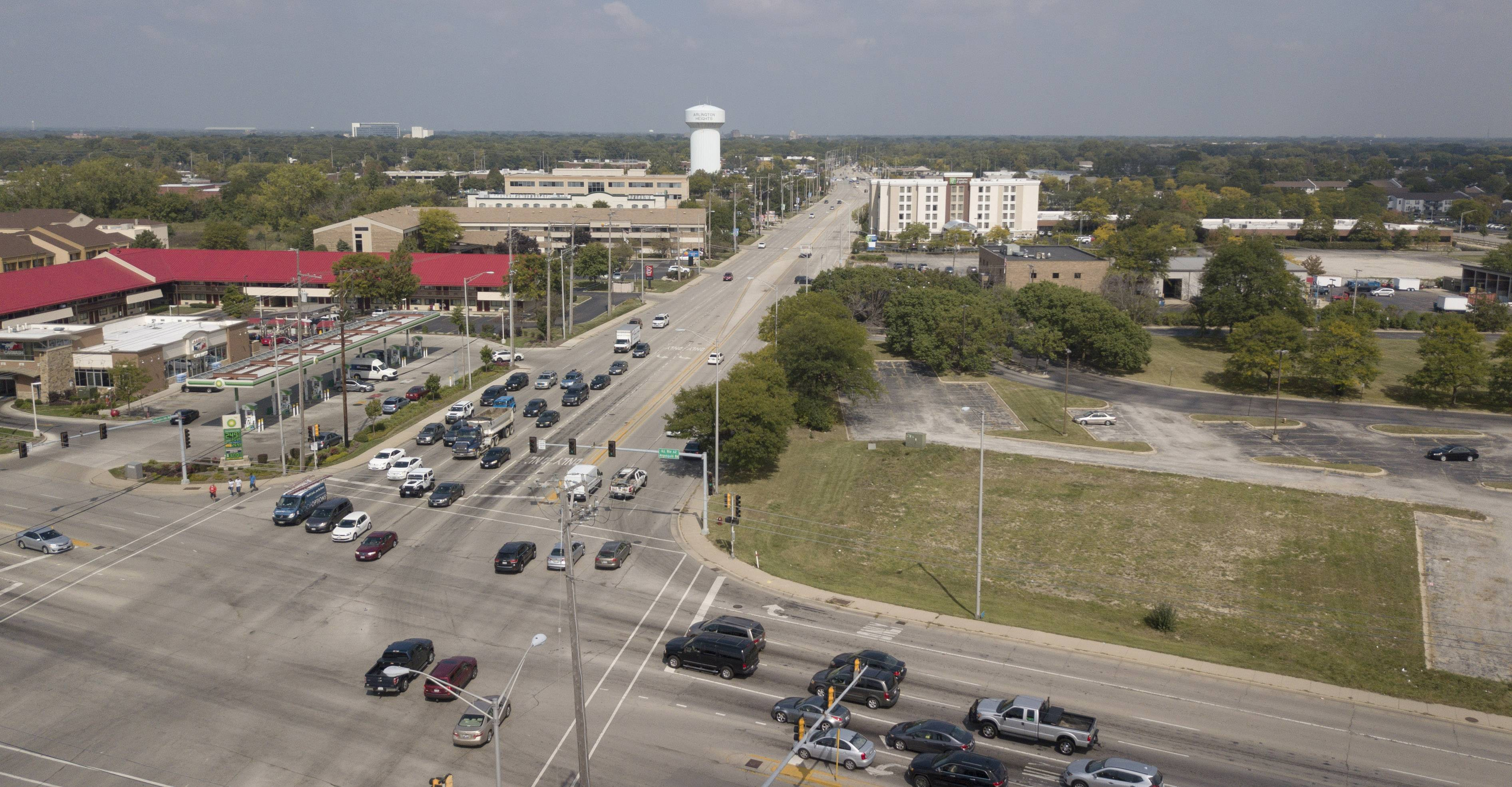 A plan for the South Arlington Heights Road corridor includes less-restrictive zoning rules, pedestrian-friendly upgrades and aesthetic improvements. The village board will consider the plan at a meeting Monday night.