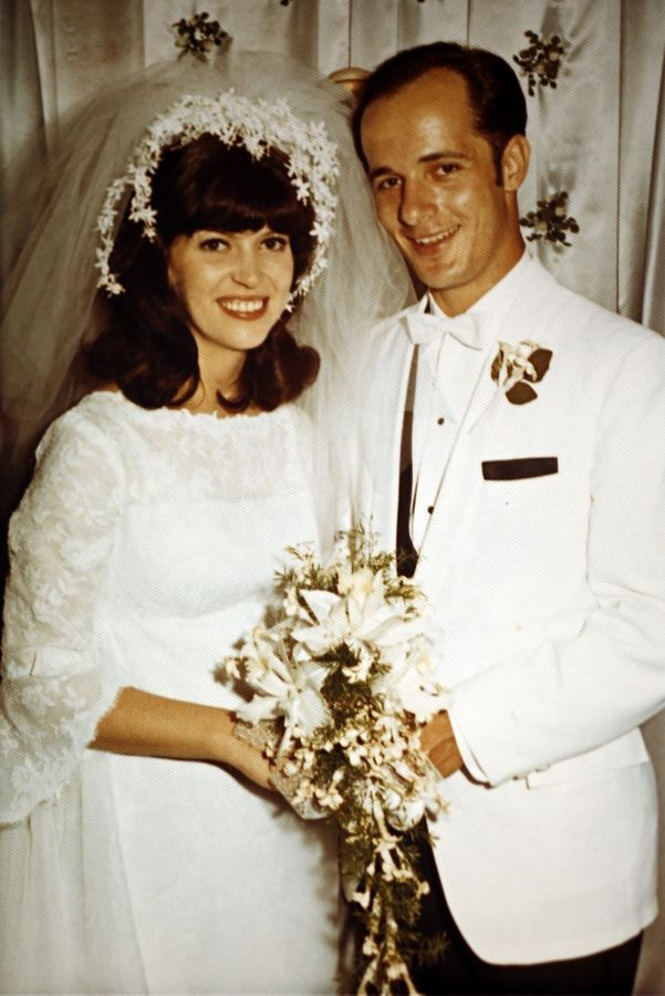 "Maggie and Dennis Depcik of Buffalo Grove on their wedding day, Aug. 24, 1969. Maggie died in 2010, and Dennis says he still needs to talk about it -- ""I'm nowhere near getting over it. I will never get over it."""