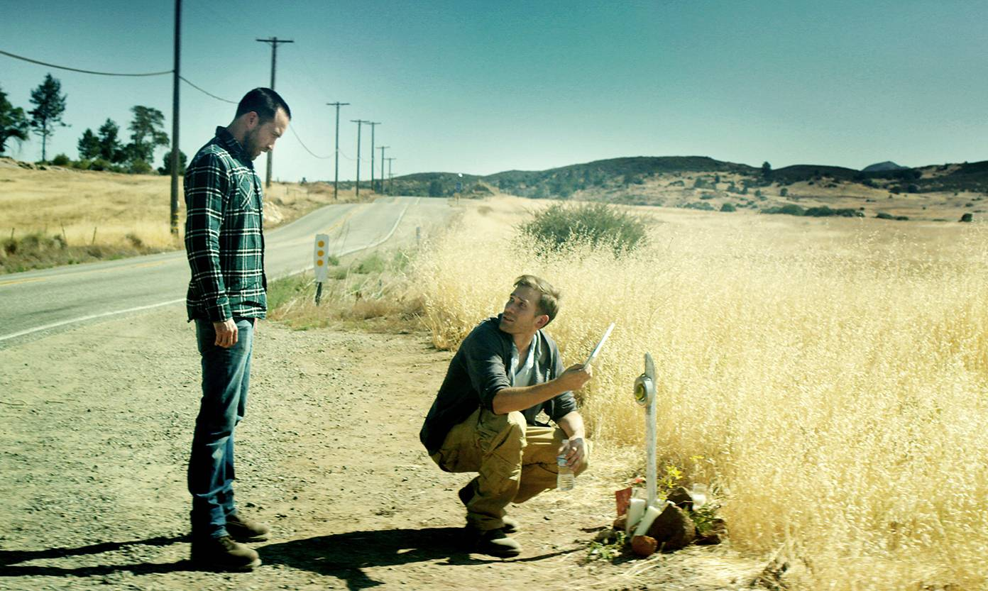 "Brothers (Justin Benson, left, and Aaron Moorhead) head back to where they grew up in ""The Endless."""