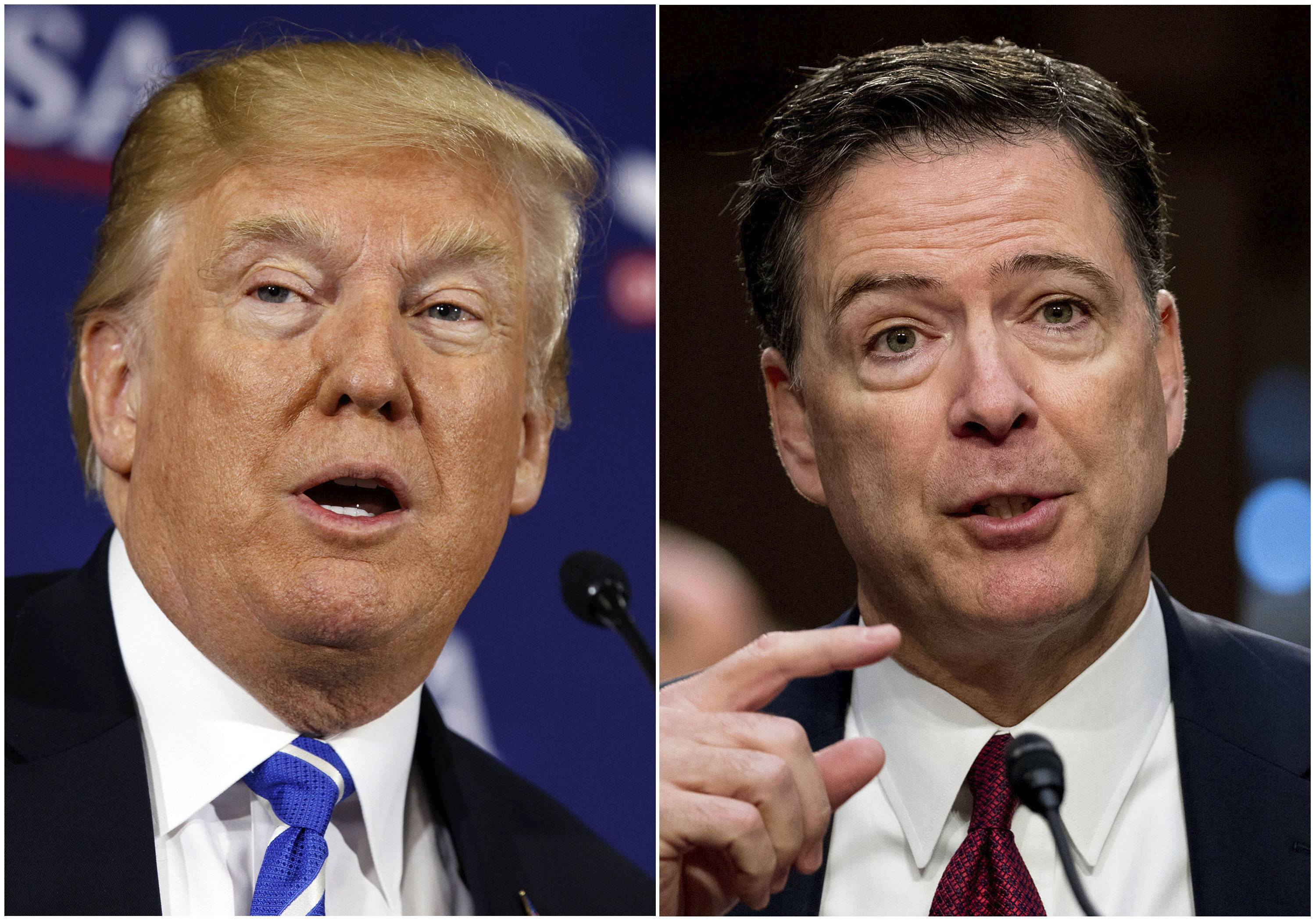 "President Donald Trump fired off a series of tweets ahead of James Comey's first interview on his book, ""A Higher Loyalty: Truth, Lies, and Leadership,"" which offers his version of the events surrounding his firing as FBI director by Trump."