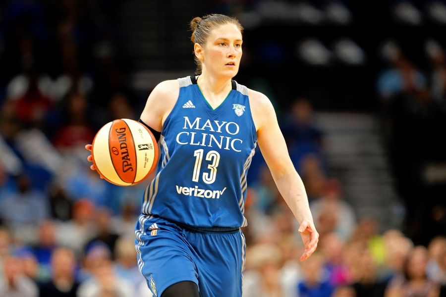 Minnesota Lynx's Lindsay Whalen plays against the Los Angeles Sparks in Game 2 of the WNBA basketball finals Tuesday, Oct. 11, 2016, in Minneapolis.