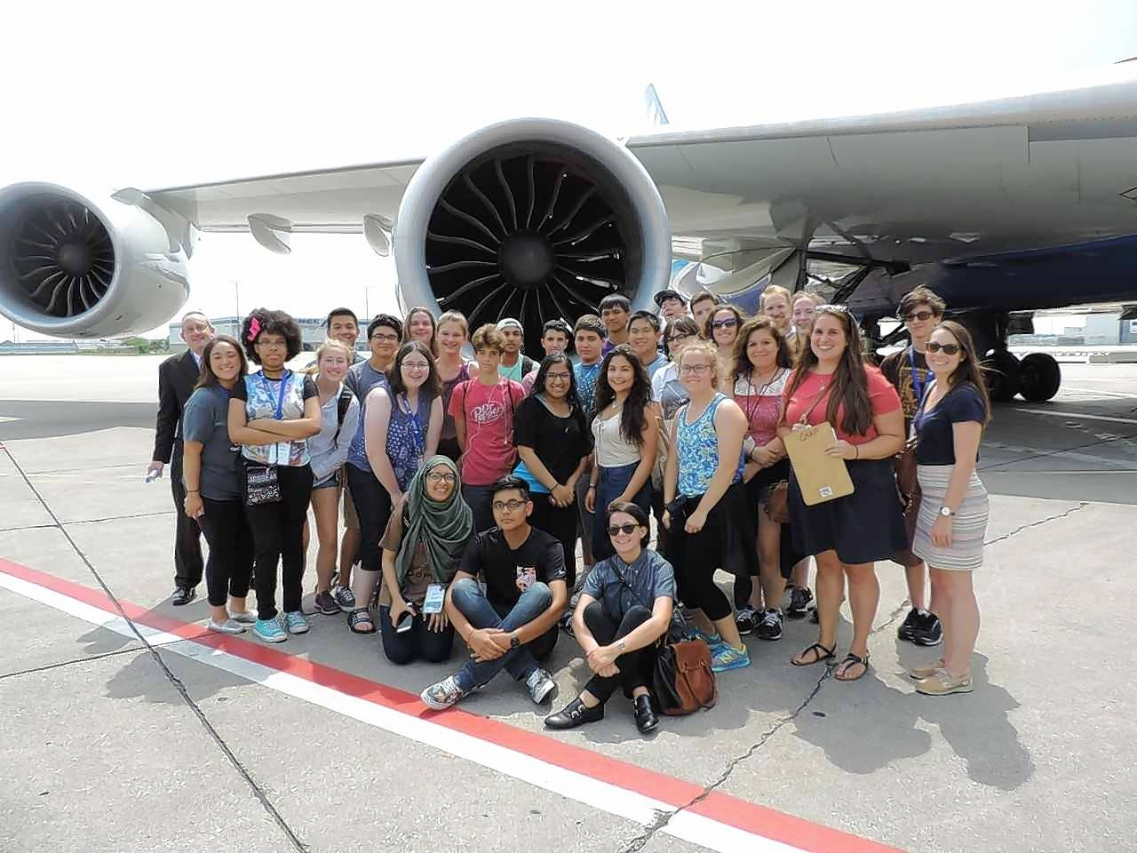 High school students from Chicago and the suburbs visited O'Hare International Airport to learn about Chicago's role as a hub of air travel and freight movement as part of the Chicago Metropolitan Agency for Planning's Future Leaders in Planning summer workshop.