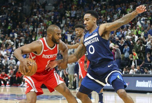 f0f5a453f0d6 Wolves top Rockets 121-105 in Game 3