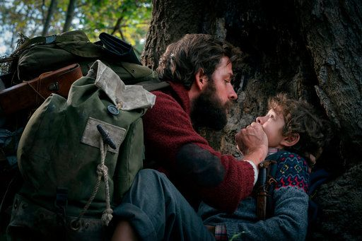 "John Krasinski, left, and Noah Jupe star in a ""A Quiet Place."""