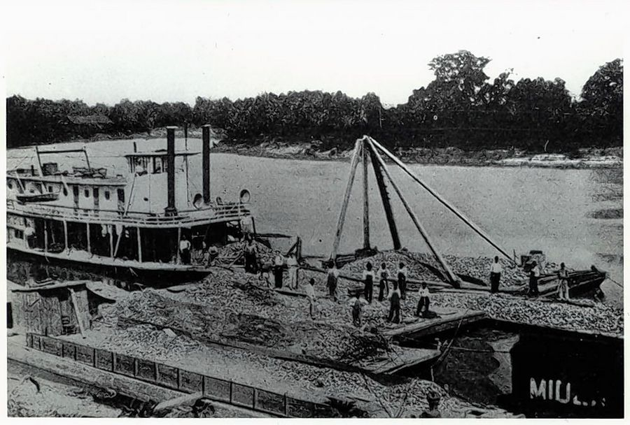 Before railroads, the Illinois River was the only way to move goods