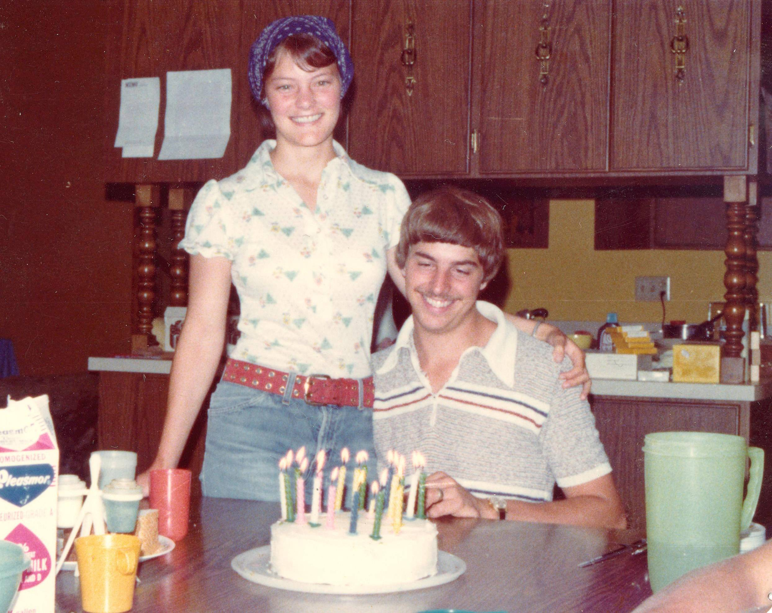 Grief expert Amy Florian of Hoffman Estates smiles years ago with her late husband John Willenborg on his 20th birthday celebration when they were living in Iowa.