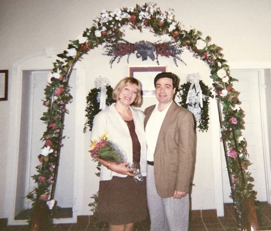 Fred Marotto and his late wife, Beverly, at their wedding in the Anne Arundel County courthouse in Annapolis, Maryland. They met in 1981. She died in 2009.