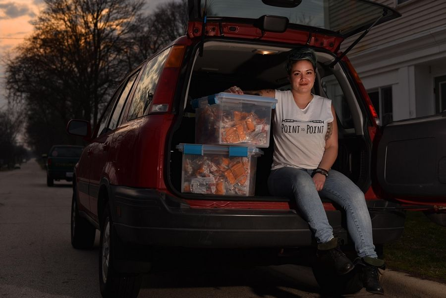 Lyndsay Hartman has started a needle exchange program out of her car and Batavia apartment.