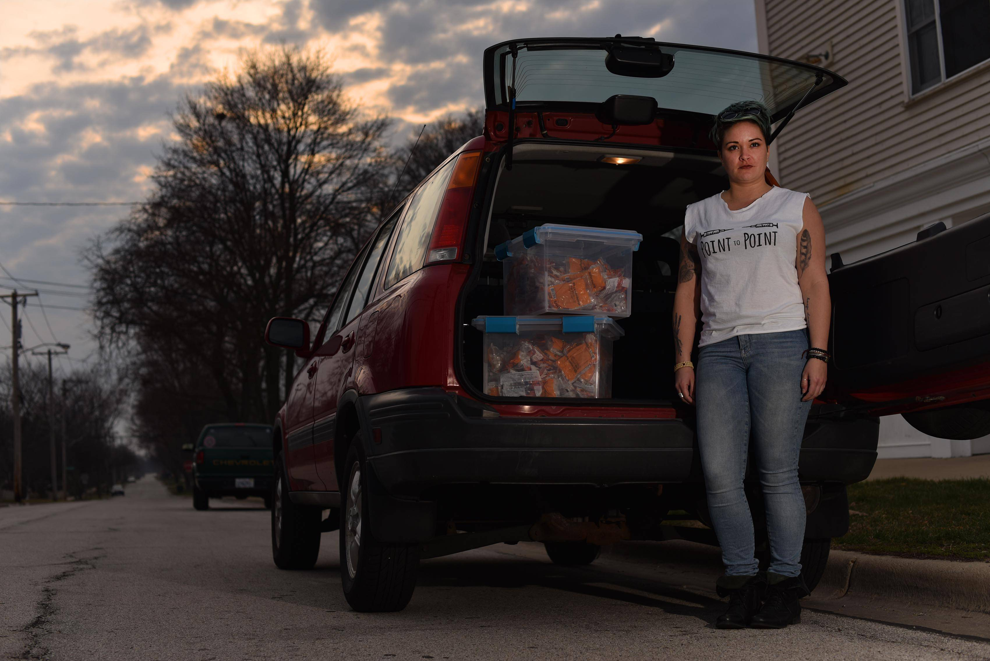 Lyndsay Hartman decided to start a needle exchange program and provide free naloxone in the suburbs.