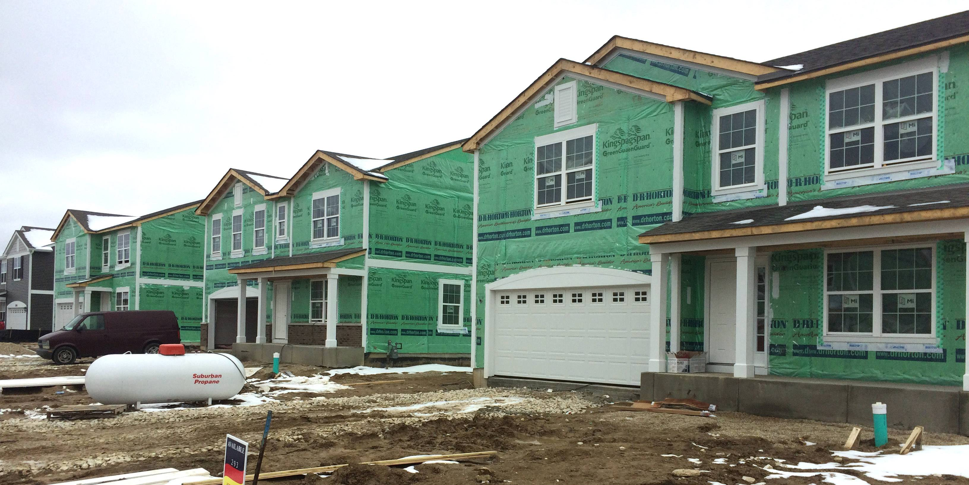 New home construction is strong at the Clublands of Antioch.