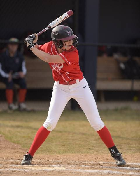 Naperville Central S Jacqueline Abogado 1 Bats Against North During Varsity Softball At
