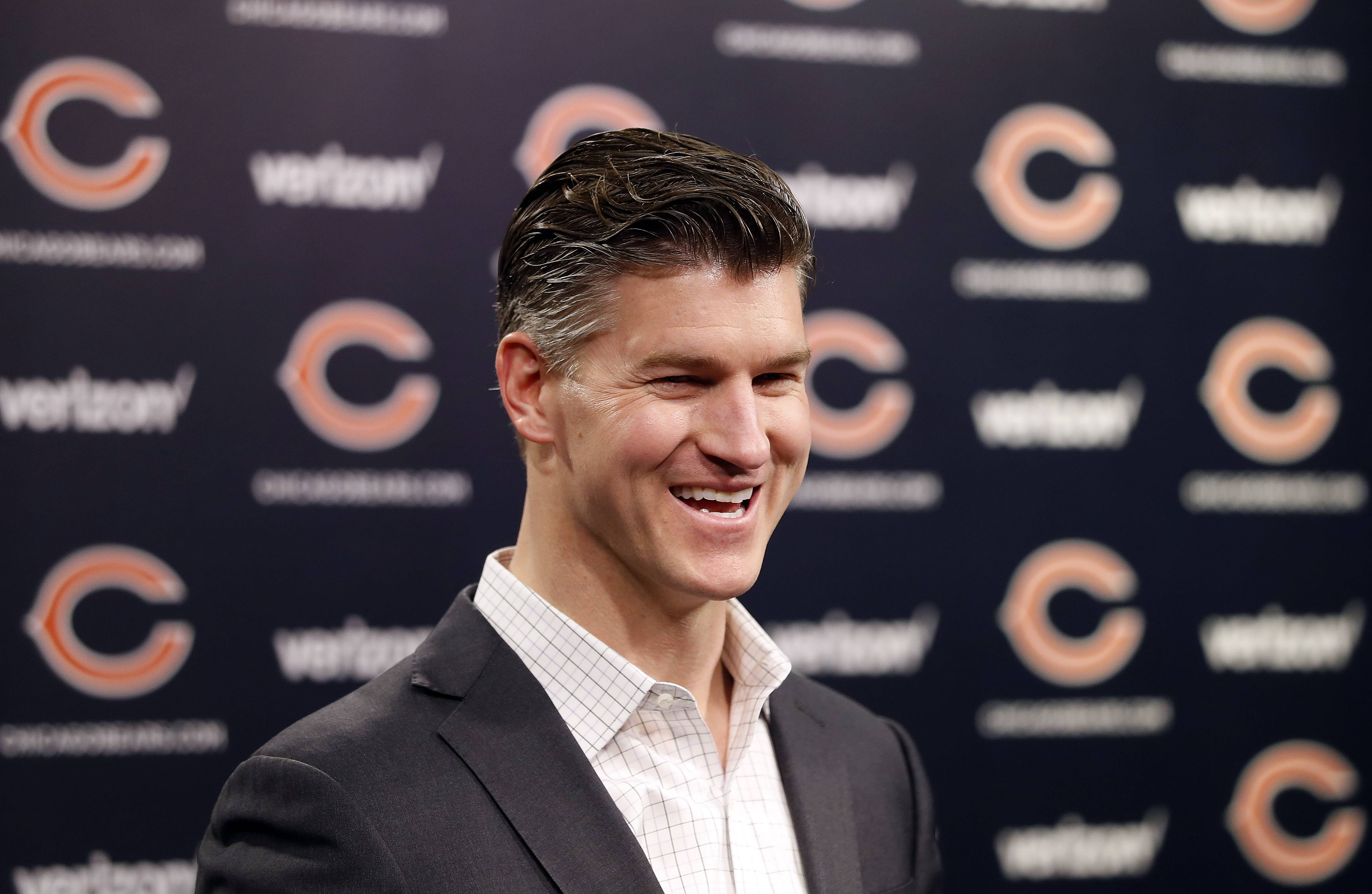 Chicago Bears general manager Ryan Pace has the No. 8 overall pick in Thursday's first round of the NFL draft.