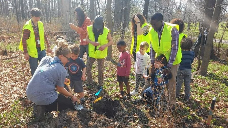 Free saplings part of the festivities at Highland Park Arbor
