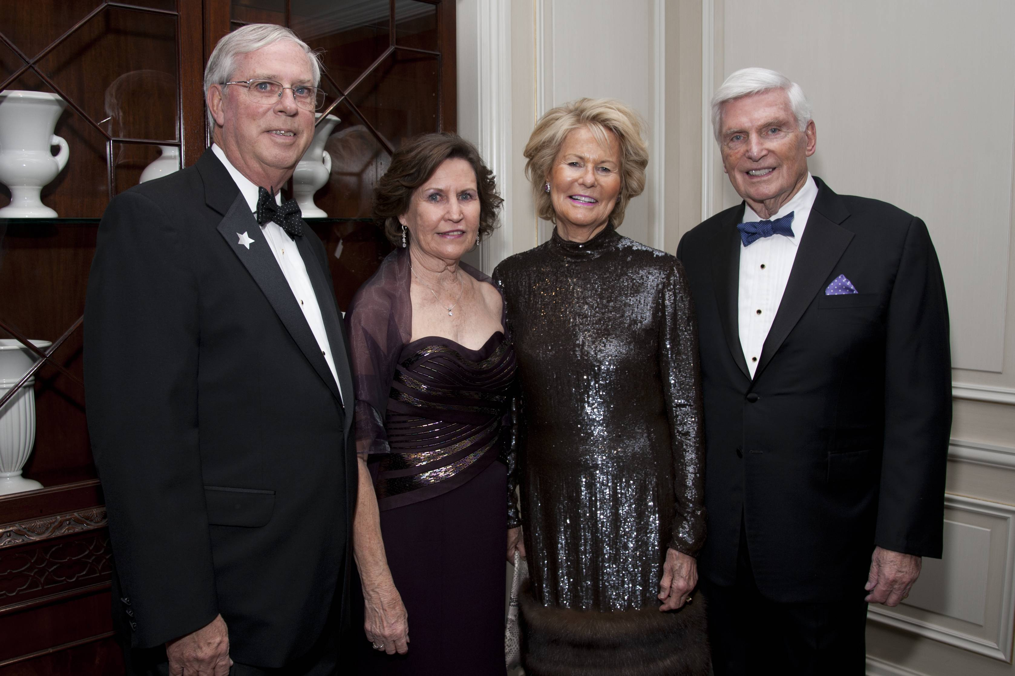 COURTESY OF ROBERT CARLFrom left, Linda and David Riley and Shirley and Pat Ryan pose for a picture during the Clearbrook Event at the Four Seasons Hotel Chicago on Friday, April 27, 2018.
