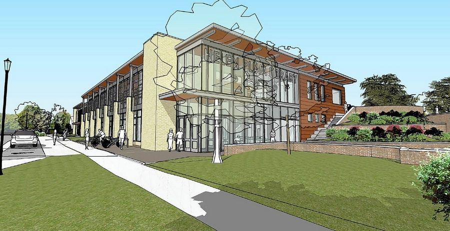 Architectural renderings released this week show what a new library in downtown Lombard could look like. Helen M. Plum Memorial Library officials said the plan could be modified based on final cost estimates and discussions with the village and park district.