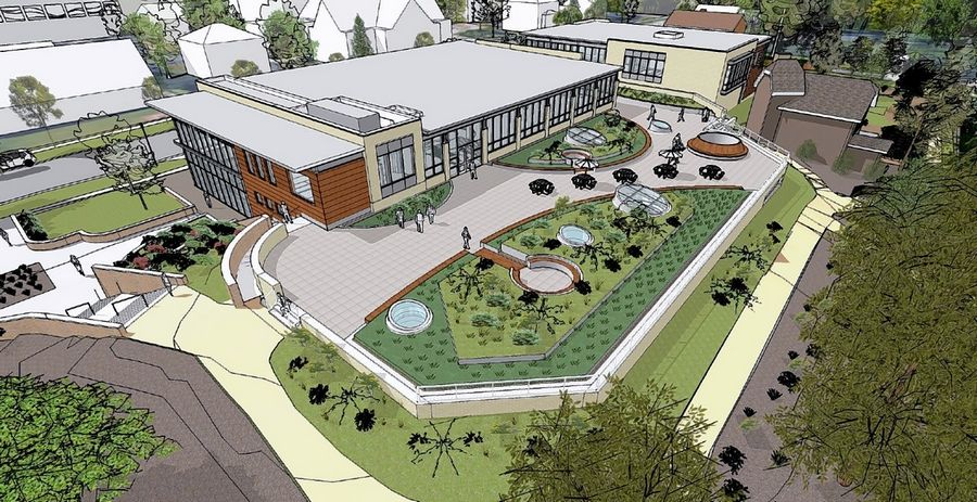 Lombard library officials say they are planning to replace the existing library with a new facility that will have two linked pavilions.