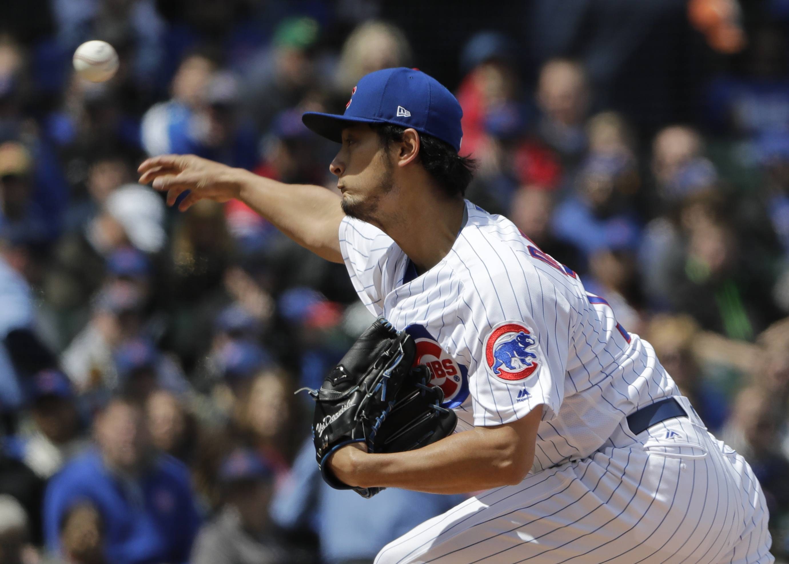 Cubs' Darvish gives much stronger performance in win over Brewers