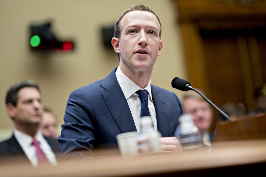 Facebook's Mark Zuckerberg speaks during a House hearing on April 11, 2018.