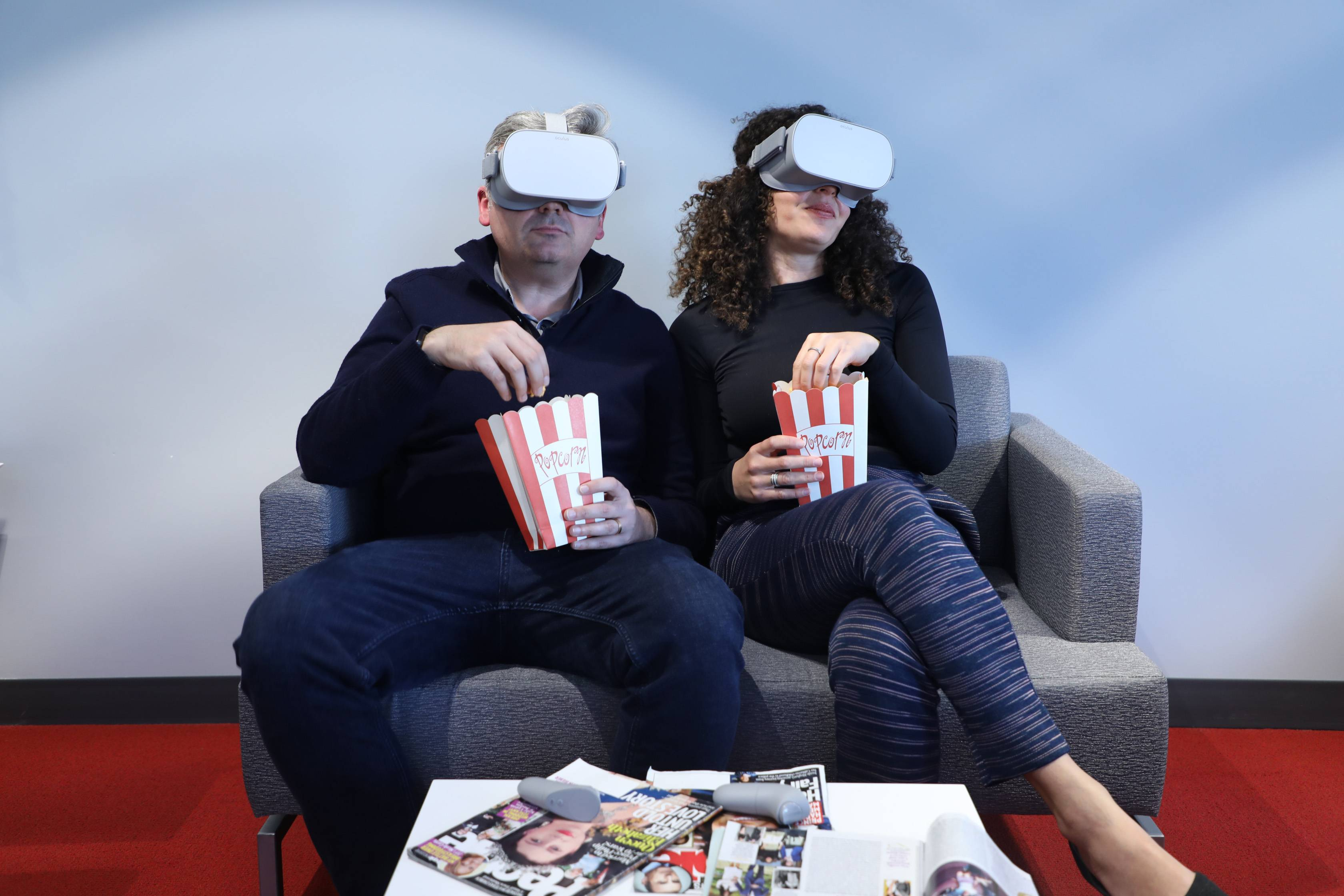 The Oculus Go VR headset lets you share watching TV with somebody else sitting next to you -- or on the other side of the planet.