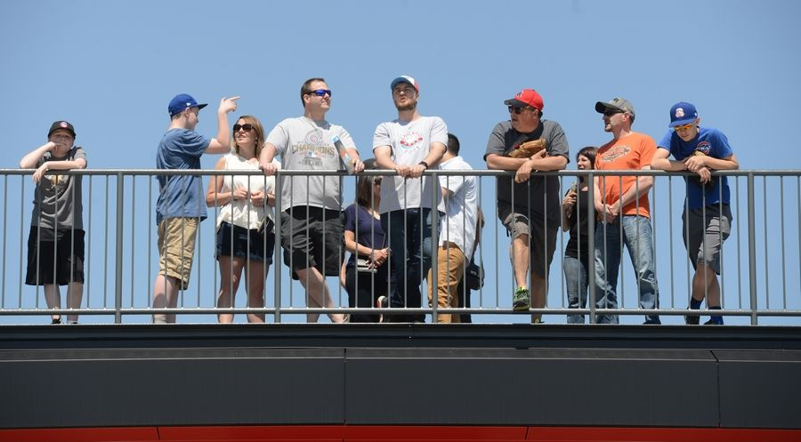 Guests view the field during an open house at Impact Field in Rosemont Saturday.