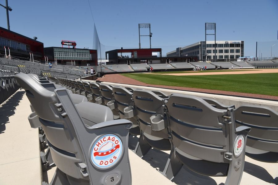 View from the seats along the right field line during an open house at Impact Field in Rosemont Saturday.