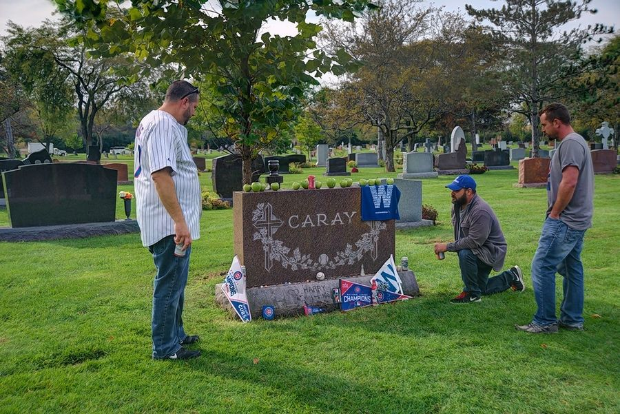 """Chicago Eternal,"" a new photography book by Larry Broutman, is the product of five years of photographing 31 cemeteries in the region. During the 2016 World Series, Broutman captured Cubs fans making the pilgrimage to the final resting place of Harry Caray at All Saints Cemetery in Des Plaines."