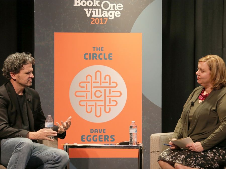 "The Arlington Heights Memorial Library's 2017 ""One Book, One Village"" program, which included a visit from author Dave Eggers in October, helped earn the library the prestigious John Cotton Dana Library Public Relations Award from the American Library Association."