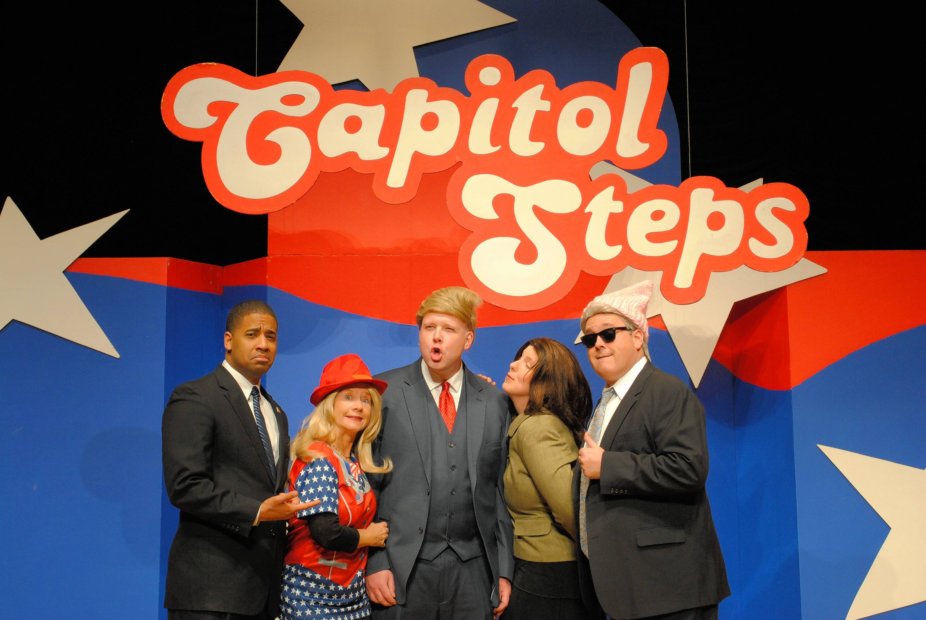 The satirical comedy ensemble Capitol Steps perform Saturday at the McAninch Arts Center in Glen Ellyn.